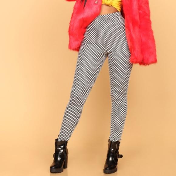 1924ddc73f1fa Fashion Nova Pants | Black And White Checkered Leggings | Poshmark